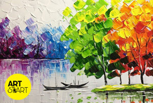 palette knife painting classes art start academy in coimbatore